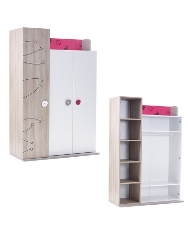 Ruhásszekrény, Gardrob AM Sweet 3 ajtós ruhásszekrény gyerekbútor