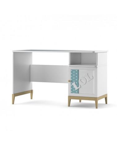 TI Elle díszített íróasztal, különböző színekben