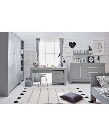 PI Calmo MDF íróasztal szürke és fehér színben