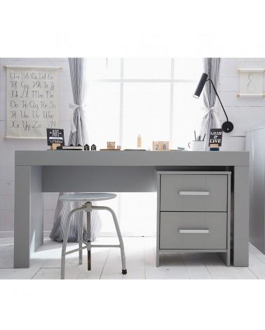 Íróasztalok PI Calmo MDF íróasztal szürke és fehér színben