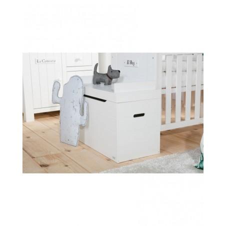 Rácsos kiságyak PI Barcelona átalakítható kiságy 140 x 70 cm-es gyerekbútor fehér színben