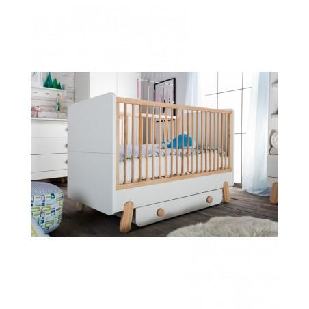 Rácsos kiságyak PI Iga 140 x 70 cm átalakítható rácsos babaágy gyerekbútor