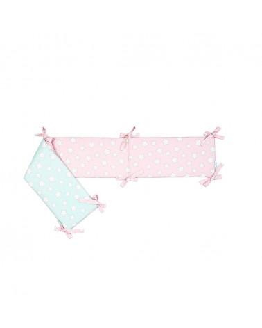 LC Fejvédő 185 X 27 Cm Menta - Rózsaszín Csillagos Kollekció