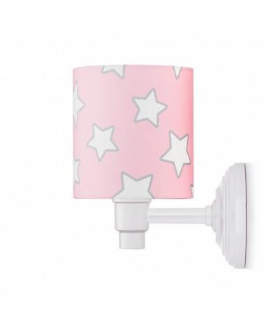 Fali lámpa LC Falilámpa rózsaszín - csillag kollekció