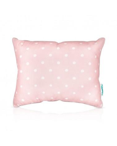 LC párna kétoldalú 30 x 50 cm rózsaszín - szürke pöttyös kollekció