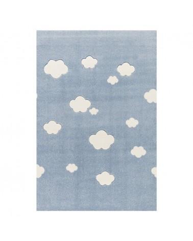 Gyerekszoba Szőnyegek LE Felhők kék - krém színben - minőségi gyerekszőnyeg