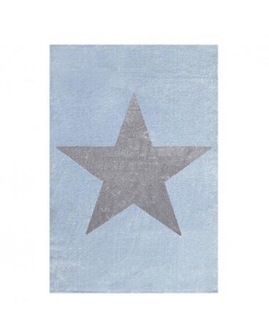 Gyerekszoba Szőnyegek LE Csillag kék-ezüstszürke színben - minőségi gyerekszőnyeg
