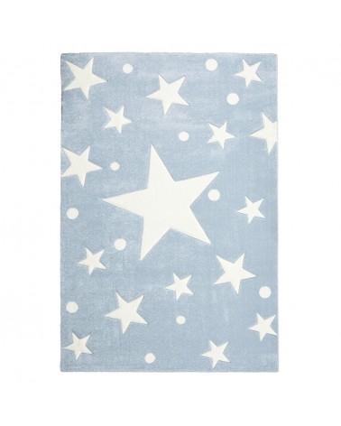 Gyerekszoba Szőnyegek LE Csillagok II. kék-fehér színben - minőségi gyerekszőnyeg