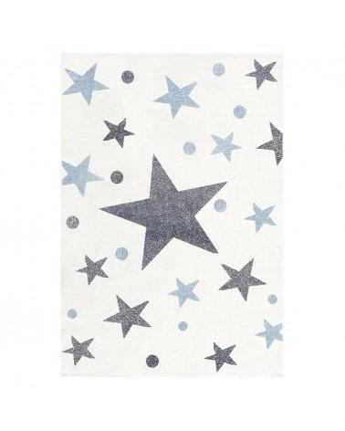 Gyerekszoba Szőnyegek LE Csillagok III. krém-szürkés kék színben - minőségi gyerekszőnyeg