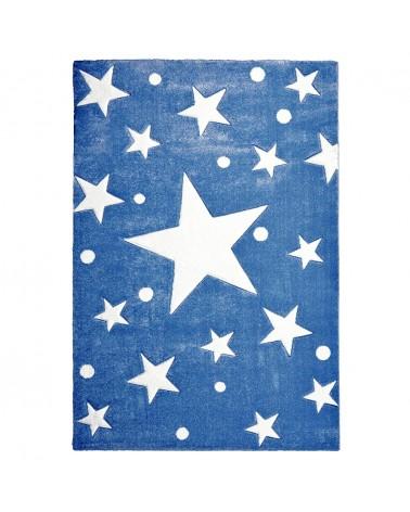 Gyerekszoba Szőnyegek LE Csillagok IV. kék - fehér színben - minőségi gyerekszőnyeg