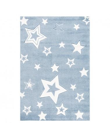 Gyerekszoba Szőnyegek LE Csillagok fénye kék - fehér színben - minőségi gyerekszőnyeg