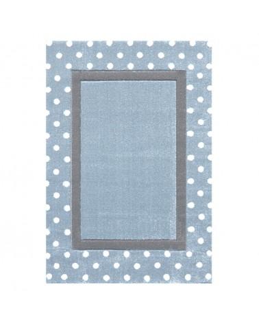 Gyerekszoba Szőnyegek LE POINT kék - ezüstszürke színben - minőségi gyerekszőnyeg
