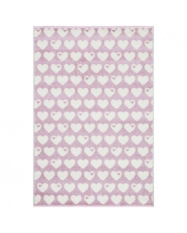 Gyerekszoba Szőnyegek LE Hearts Rózsaszín - Fehér színben - minőségi gyerekszőnyeg