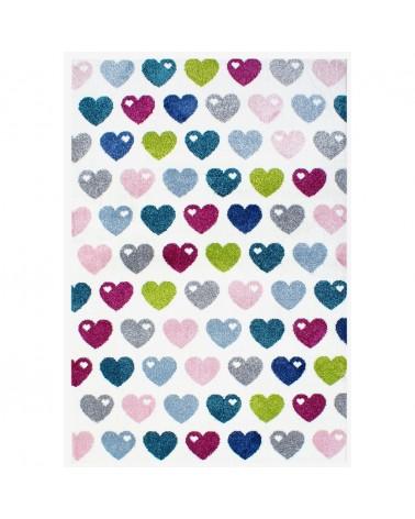 Gyerekszoba Szőnyegek LE Hearts - multicolor színben - minőségi gyerekszőnyeg