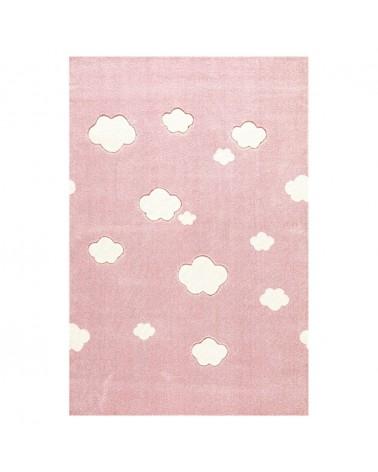 Gyerekszoba Szőnyegek LE Felhők Rózsaszín - Krém Színben - Minőségi Gyerekszőnyeg