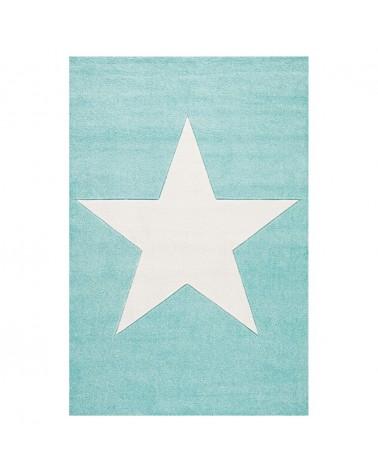 LE Csillag Menta - Fehér Színben - Minőségi Gyerekszőnyeg