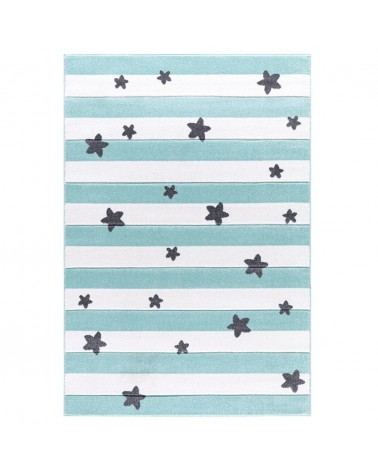 LE Csillagok És Csíkok Kék - Fehér Színben - Minőségi Gyerekszőnyeg
