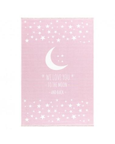 Mosható szőnyegek LE Holdfény - mosható - Rózsaszín színben - minőségi gyerekszőnyeg