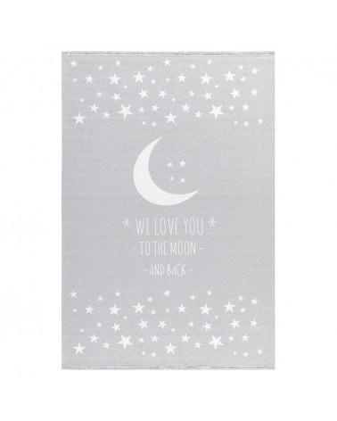 Ezüst és szürke kollekció LE Holdfény - mosható - ezüstszürke színben - minőségi gyerekszőnyeg