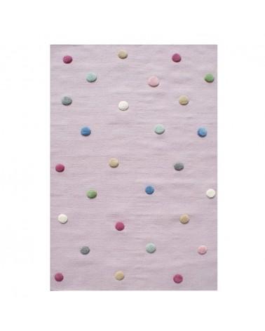 Gyapjú szőnyegek LE Colordots II. Természetes Gyapjúszőnyeg - Minőségi Gyerekszőnyeg