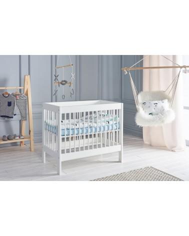 Rácsos kiságyak PI Basic ágy mellé illeszthető kiságy fehér színben