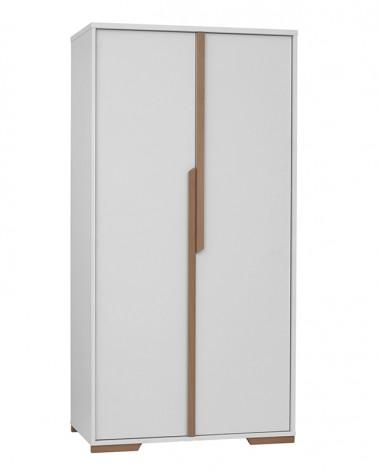 PI Snap 2 ajtós szekrény fehér színben