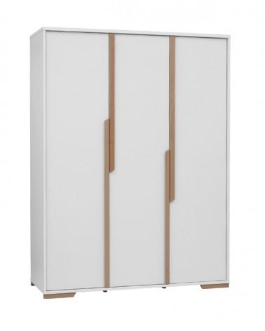 PI Snap 3 ajtós szekrény fehér színben