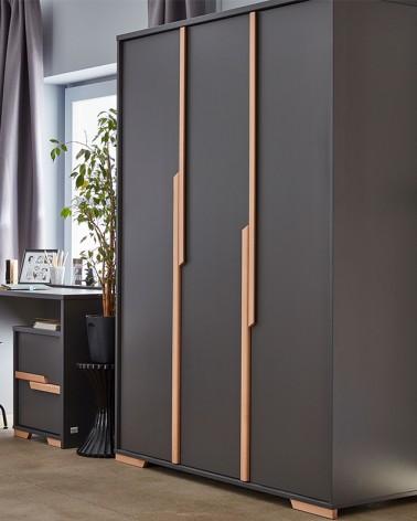 PI Snap 3 ajtós szekrény szürke színben