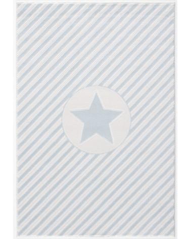 Gyerekszoba Szőnyegek LE Decostar, csillagos kék - fehér színű gyerekszőnyeg