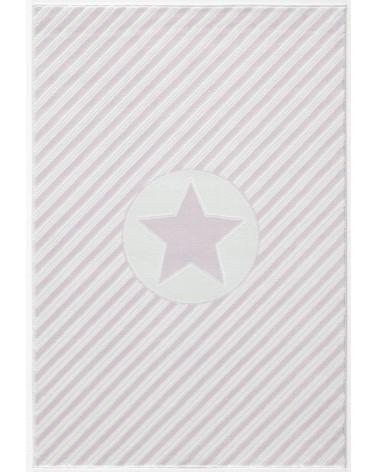 Gyerekszoba Szőnyegek LE Decostar csillagos rózsaszín - fehér színű gyerekszőnyeg