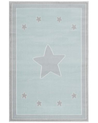 Gyerekszoba Szőnyegek LE Princess csillagos, menta - ezüstszürke színű gyerekszőnyeg