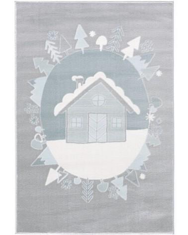 Gyerekszoba Szőnyegek LE Scandic Home, ezüstszürke - kék színű gyerekszőnyeg