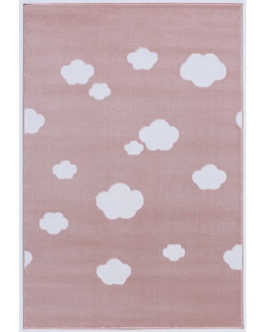 Gyerekszoba Szőnyegek LE Skycloud felhős, rózsaszín - fehér színű gyerekszőnyeg