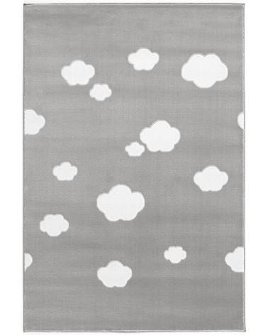 Gyerekszoba Szőnyegek LE Skycloud felhős, ezüstszürke - fehér színű gyerekszőnyeg