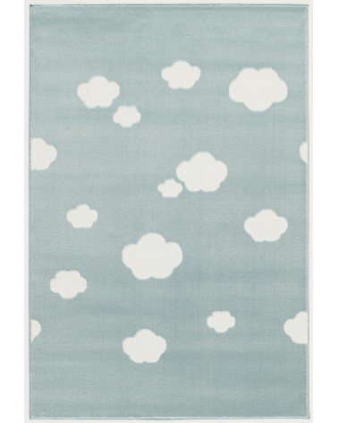 LE Skycloud felhős, menta - fehér színű gyerekszőnyeg