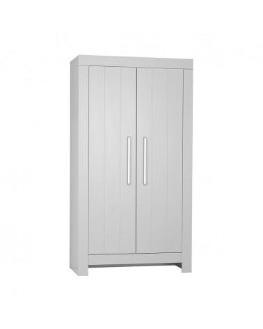 PI Calmo 2 ajtós MDF szekrény gyerekbútor szürke és fehér színben