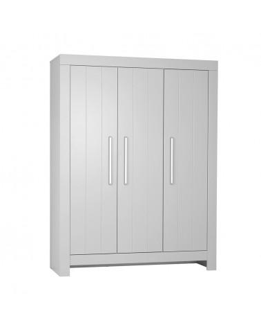 PI Calmo 3 ajtós MDF szekrény gyerekbútor szürke és fehér színben