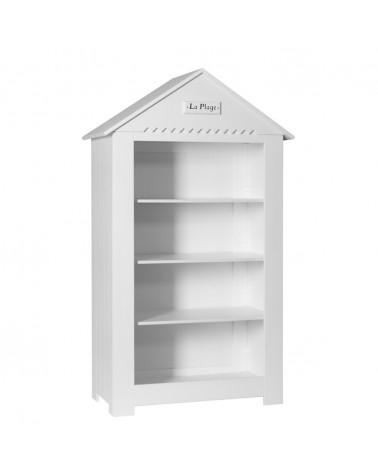 Könyvszekrény PI Marsylia Nagy Könyvespolc gyerekbútor fehér színben