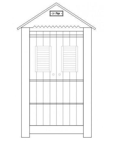 Ruhásszekrény, Gardrob PI Marsylia 2 ajtós szekrény gyerekbútor fehér színben