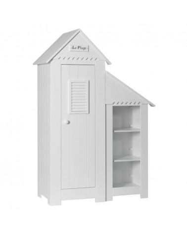 PI Marsylia 1 ajtós szekrény könyvespolccal gyerekbútor fehér színben