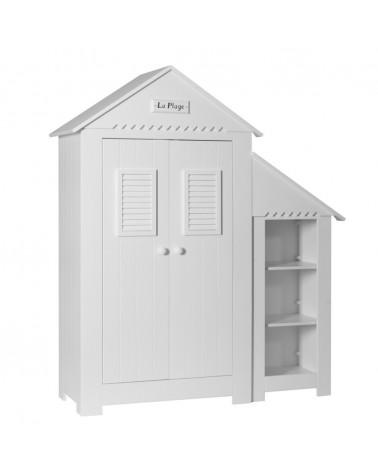 PI Marsylia 2 ajtós szekrény könyvespolccal gyerekbútor fehér színben