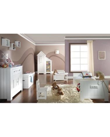 Ruhásszekrény, Gardrob PI Marsylia 2 ajtós szekrény könyvespolccal gyerekbútor fehér színben