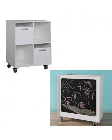 PI Mini játéktároló szekrény írótáblával gyerekbútor